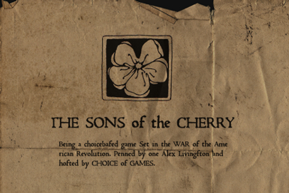 'Sons of the Cherry' splash screen